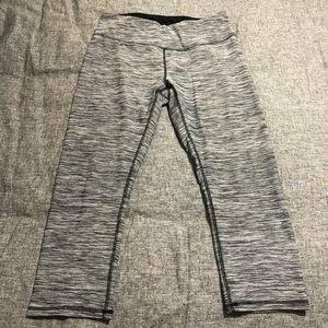 RBX Gray & Black Capri Leggings
